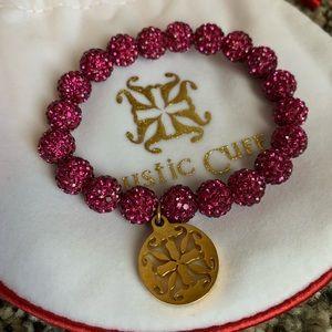 Rustic Cuff Emerson Bracelet - Dark Pink